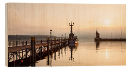 Wood print  Morning mood in Constance on Lake Constance - Dieterich Fotografie