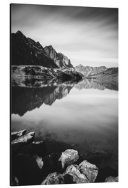 Aluminium print  Long exposure of mountains at Trüebsee mountain lake above Engelberg, Switzerland - Peter Wey