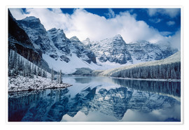Premium poster Moraine lake in Canada