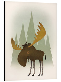 Alu-Dibond  Forest Moose - Ryan Fowler