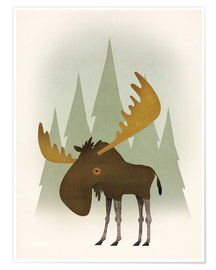 Poster  Forest moose - Ryan Fowler