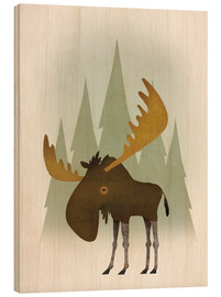 Wood print  Forest moose - Ryan Fowler