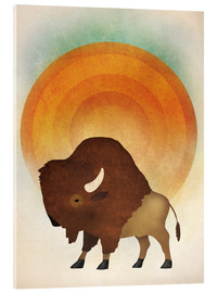 Acrylic glass  Blazing Sun Bison - Ryan Fowler