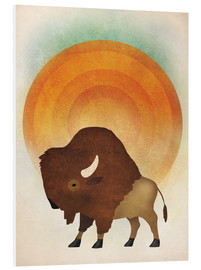 Foam board print  Blazing sun bison - Ryan Fowler