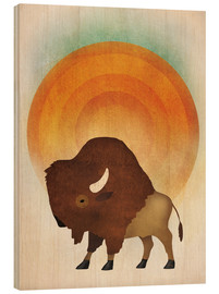 Wood  Blazing Sun Bison - Ryan Fowler