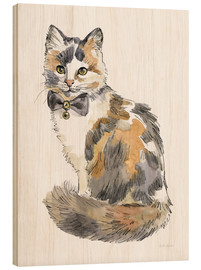 Wood print  Fancy Cats II - Beth Grove