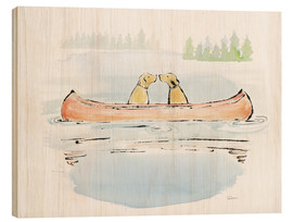 Wood print  Lakeside Days IV - Sue Schlabach