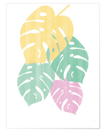 Poster  Monstera III Bright on White - Sarah Adams