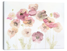 Canvas print  Delicate Poppies - Danhui Nai