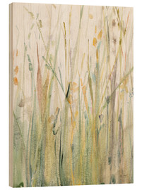 Wood print  Spring Grasses I - Avery Tillmon