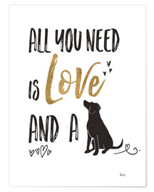 Premium poster  All you need is love and a dog - Veronique Charron