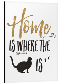 Aluminium print  Home is where the cat is - Veronique Charron
