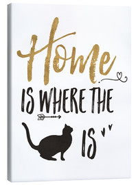 Canvas print  Home is where the cat is - Veronique Charron