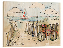 Wood print  Coastal Catch VI - Anne Tavoletti