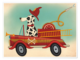 Premium poster K9 fire department