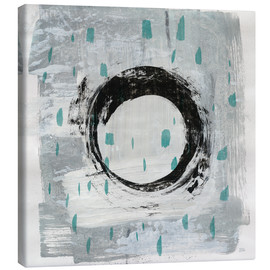 Canvas print  Zen Circle I Teal - Melissa Averinos