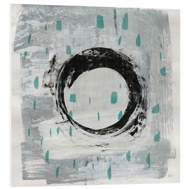 Foam board print  Zen Circle I Teal - Melissa Averinos