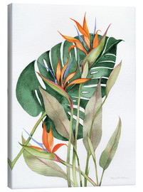 Canvas print  Botanical Birds of Paradise - Kathleen Parr McKenna