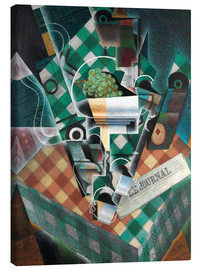 Canvas print  Still life with checkered tablecloth - Juan Gris