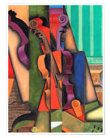 Premium poster  Violin and guitar - Juan Gris