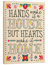 Wood print  Our home - Laura Marshall