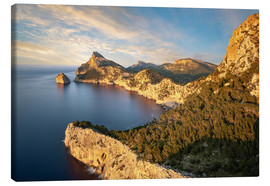 Canvas print  Evening sun at Cap de Formentor, Mallorca - Michael Valjak
