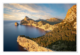 Poster  Evening sun at Cap de Formentor, Mallorca - Michael Valjak