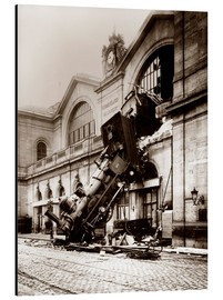 Aluminium print  Train accident at the Montparnasse station, Paris - John Parrot