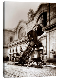 Canvas print  Train accident at the Montparnasse station, Paris - John Parrot