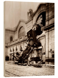 Wood  Train accident at the Montparnasse station in Paris - John Parrot