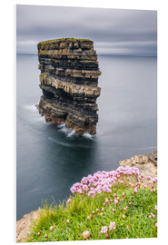 Foam board print  Downpatrick Head in front of Gray Lake in Ireland - Francesco Vaninetti