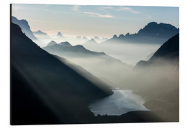 Aluminium print  Fog on the peaks of the Dolomites - Roberto Moiola