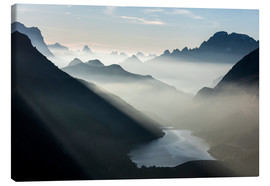 Canvas print  Fog on the peaks of the Dolomites - Roberto Moiola