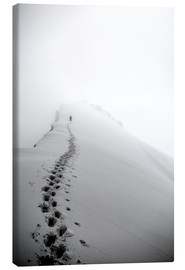 Canvas print  Climber on Domes des Miages - Christian Kober