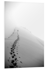 Foam board print  Climber on Domes des Miages - Christian Kober