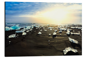 Aluminium print  Icebergs on a black beach - Alex Robinson