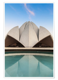 Premium poster The Lotus Temple, New Delhi