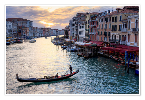 Premium poster Gondola on the Grand Canal in Venice