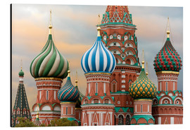 Aluminium print  St. Basil's Cathedral in Moscow - Miles Ertman