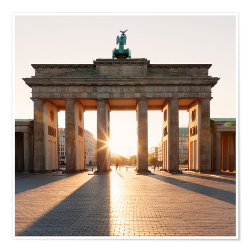 Premium poster Brandenburg Gate at sunrise