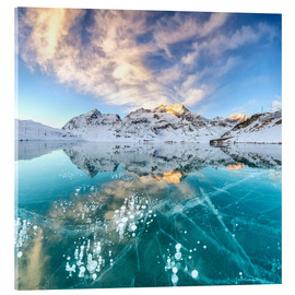 Acrylic print  Ice bubbles in frozen lake - Roberto Moiola