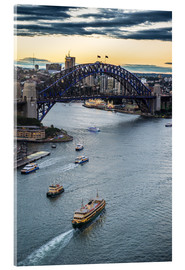 Acrylic print  View over Sydney Harbor - Michael Runkel