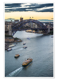 Premium poster  View over Sydney Harbor - Michael Runkel