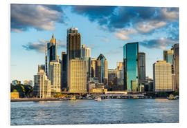 Foam board print  The skyline of Sydney at sunset - Michael Runkel