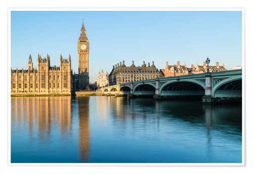 Premium poster Big Ben, and the Palace of Westminster