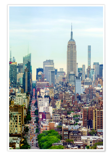 Premium poster The Empire State Building and the Manhattan skyline