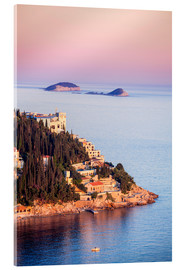 Acrylic print  Sunset on the Dalmatian coast - Neale Clarke