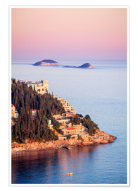 Premium poster  Sunset on the Dalmatian coast - Neale Clarke
