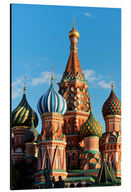 Alu-Dibond  Closeup of the Cathedral of St. Basil's Cathedral, Moscow - Miles Ertman