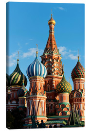 Canvas  Closeup of the Cathedral of St. Basil's Cathedral, Moscow - Miles Ertman